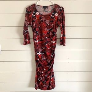Isabella Oliver Fitted Maternity Floral Dress